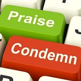 26065890-condemn-praise-keys-meaning-appreciate-or-blame